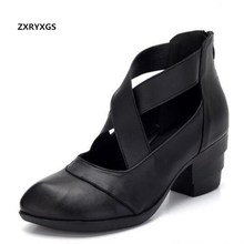 100% genuine leather shoes comfortable women high heel shoes casual fashion shoes 2016 new shoes woman ankle boots high heels цена в Москве и Питере