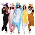 Franela Unicornio Onesie Animal Adulto mujeres de Los Pijamas Animal pijama de una pieza ropa de Dormir femenina CS162.60