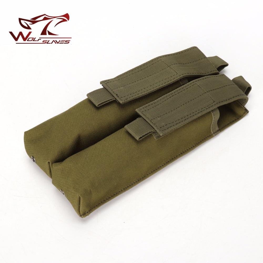 Tactical revista doble bolsa para P90 MOLLE UMP Mag bolsa Airsoft exterior camuflaje militar caza Accesorios
