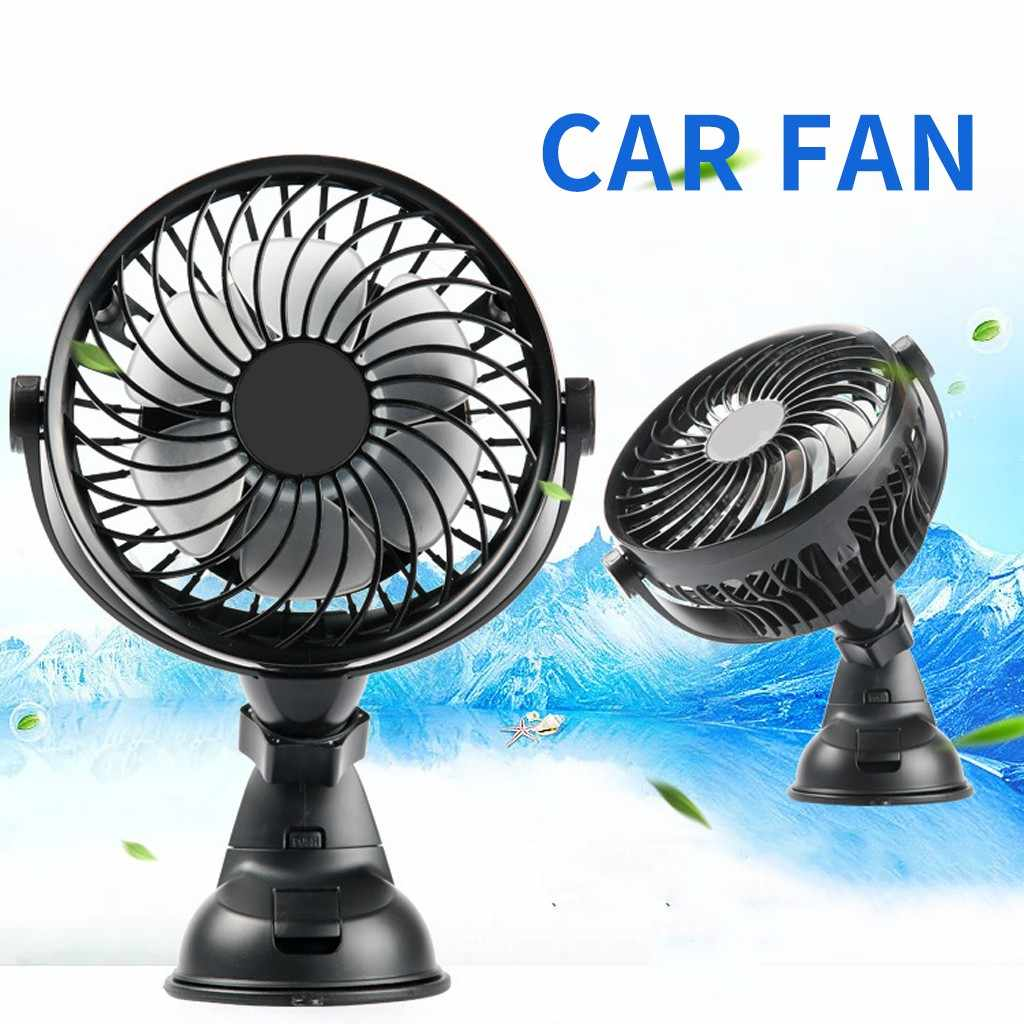 Electric fan Car Accessories 5V USB Battery Powered Car and Desk Fan 360 Rotatable Car Cooling Fan Auto Interior Accessories