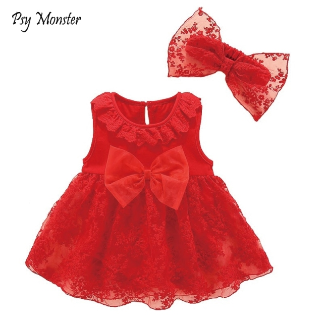 Newborn Baby Girl Dresses Clothes With Flower 3 6 9 12 Month Baby