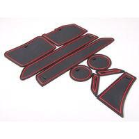 9pcs Car Styling Non Slip Interior Door Slot Pad Rubber Cup Holder Mat For Chevrolet Camaro