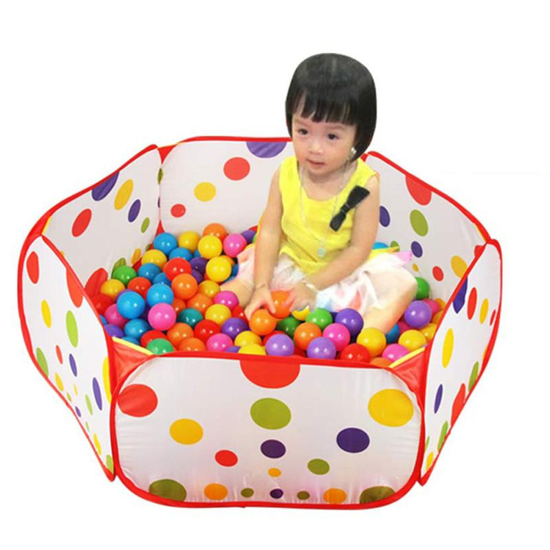 Hot Chamsgend 1m Pop up Hexagon Polka Dot Children Ball Play Pool Tent Carry Tote Toy Levert Dropship Oct 26