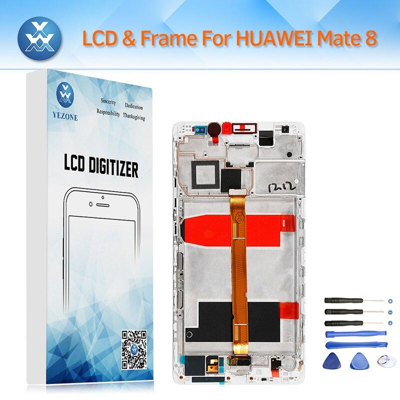 Yezone LCD Écran pour Huawei Compagnon 8 LCD Affichage Tactile Digitizer Capteur Verre Cadre Assemblée Complet Moniteur Remplacement + Outil