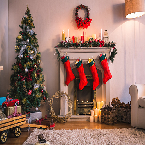 Decorations Tree Fireplace Light Room Scene backdrop Vinyl cloth Computer printed christmas  Photography Backgrounds snowman village snow moon snowflake photo backdrop high grade vinyl cloth computer printed christmas photography backgrounds