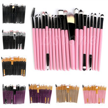 20Pcs Cosmetic Brush Pro Powder Foundation Eyeshadow Eyeliner Lip Set Tool Kit Concealer Makeup Brushes HTY07