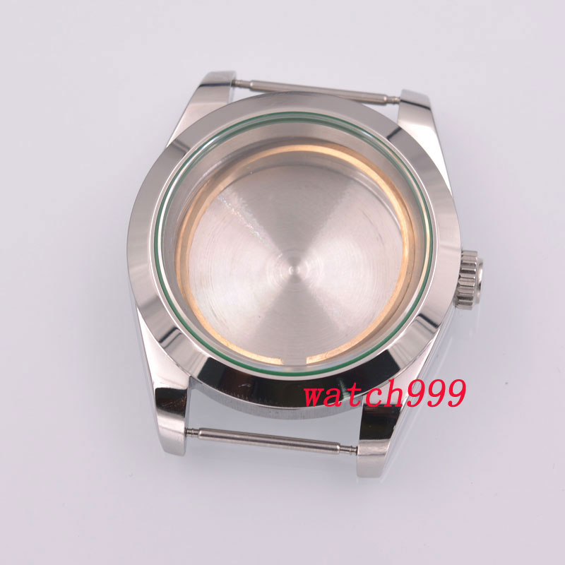 40mm 316L stainless steel sterile sapphire glass automatic men Watch Case fit ETA2836 2824 miyota 8215 Movement