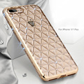 Bling 3d diamante de luxo rhinestone caso do silicone para o iphone 7 tampa traseira coque para apple iphone 7 plus iphone7 7 plus Shell