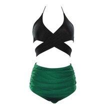Funfeliz Women Bikini High Waist Ruffle Swimming Suit Female Swimwear 2018 Print Tankini Lady S-3XL Two Pieces Swimsuit