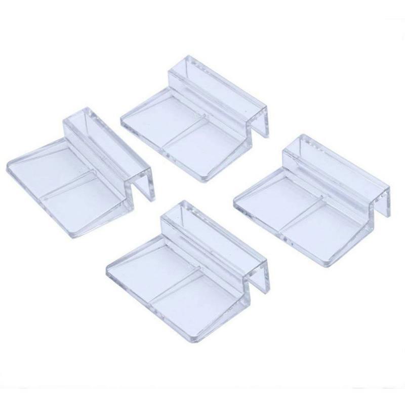 New 4Pcs/lot Fish Aquatic Pet Parts Aquarium Fish Tank Acrylic Clips Glass Cover Support Holders 6/8/10/12mm