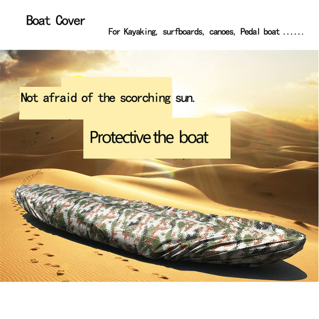 Fishing Canoeing Boat Cover V-Hull Waterproof dustproof and ultraviolet boat cover,suitable for Kayaking, surfboards, canoes