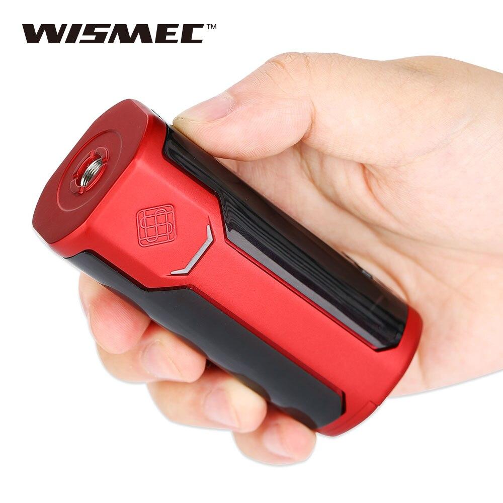 Venta caliente 80 W WISMEC sinuosa P80 TC caja MOD 80 W/50A cigarrillo electrónico Mod partido Elabo mini atomizador sinuosa P80 Vape Mod