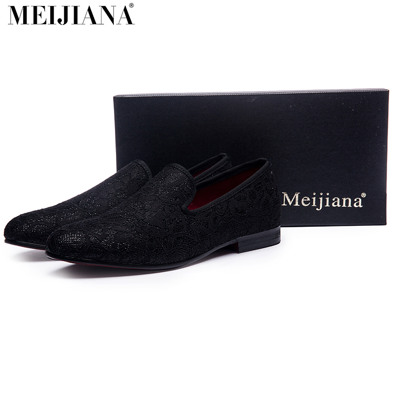 2017 Lace stitching cotton fabric Handmade men dress shoes simple and gentleman style men's loafers fashion thai tide brand cape style fairy layer tassel stitching slim dress hollow out mesh lace stitching fringed champagne dress white