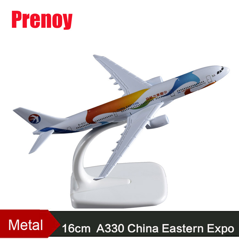 16cm A330 China Eastern Airlines Expo Airplane Model A330 Airways Chinese Expo Souvenirs Alloy Static Aircraft Model Gift Toys