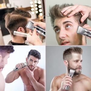 Image 5 - HATTEKER 3in1 profesyonel saç kesme makinesi su geçirmez saç giyotin erkekler tımar kiti seramik bıçak erkek LED ekran saç kesimi makinesi