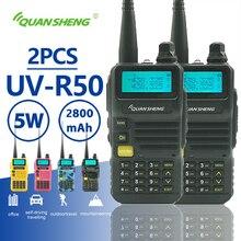 2 pcs Quansheng UV R50 ווקי טוקי 5 W 2800 mAh Dual Band נייד נייד רדיו משדר Hf חזיר תחנה CB Baofeng Uv 5r