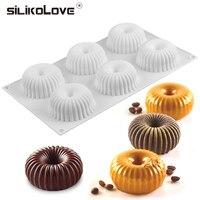 SILIKOLOVE 6 форма для выпечки силиконовая 3d торт декоративные формы для выпечки для шифон мусс Кондитерские Десерт Формы