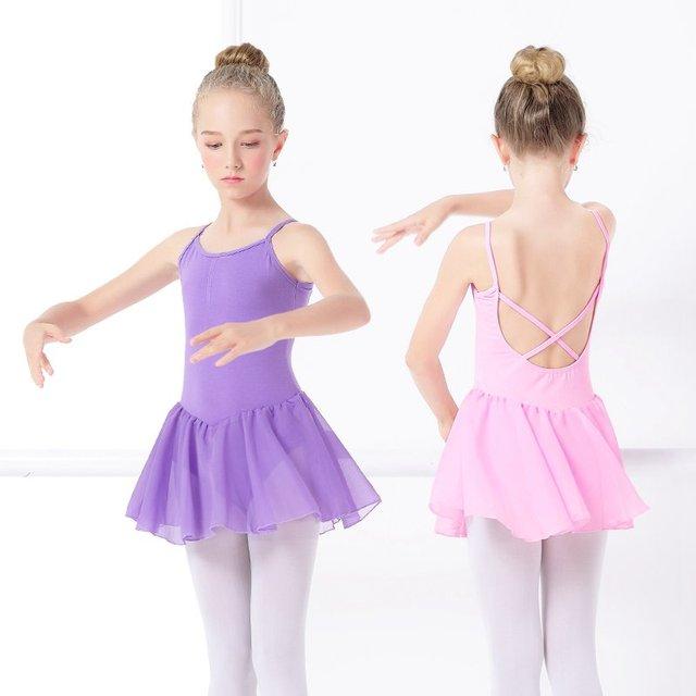 b52e0c3c7 Chiffon Ballet Dress Girls Toddler Ballet Skirted Leotard Pink ...