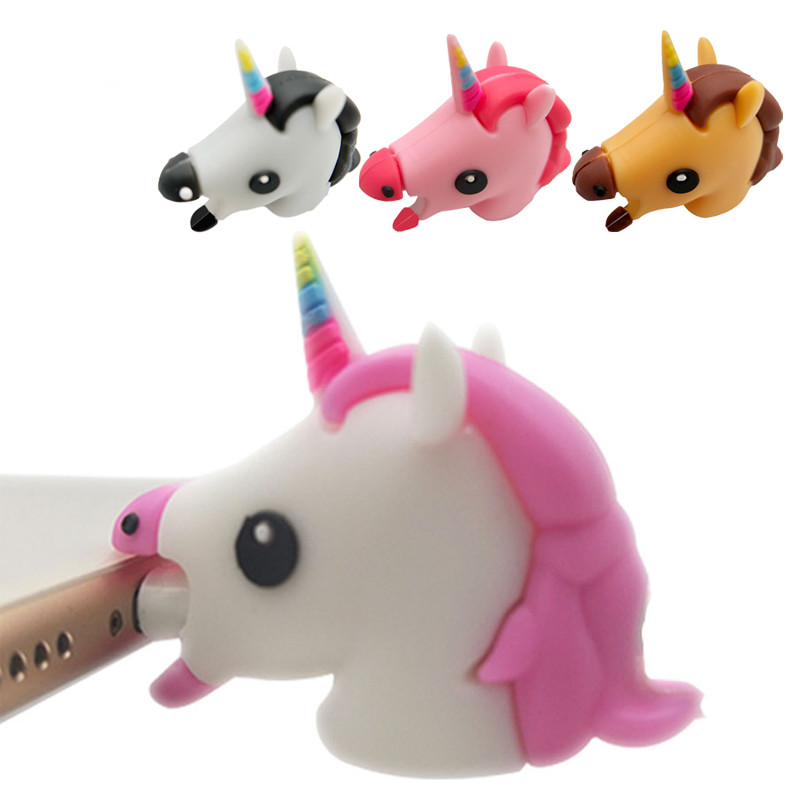 1Pc-Cute-Cable-Protector-Bite-for-Cable-Winder-Phone-holder-Accessory-cable-Cartoon-Unicorn-Animal-Doll