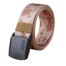 Automatic Buckle Nylon Belt Male Army Camo Tactical Belt Mens Military Waist Canvas Belts Cummerbunds High Quality Strap 3.8 cm