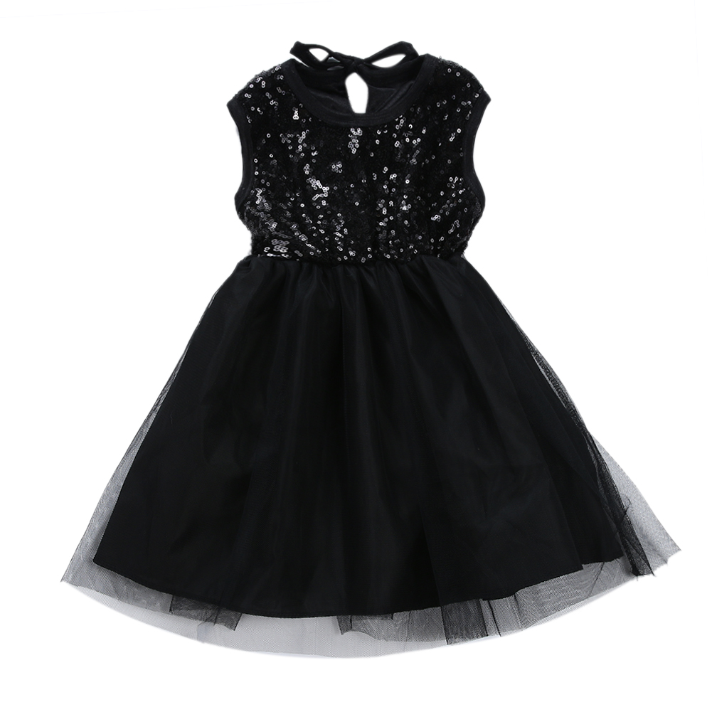 Black dress for baby girl - Baby Girl Little Black Dress Newborn Princess Party Dresses Sequins Ball Grow Dress Children Clothes