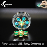 Coolmee Fidget Spinner Stress Skinner Hand Spinner Electroplated Metal Spinner Toys Finger Spinners For ADHD Stres