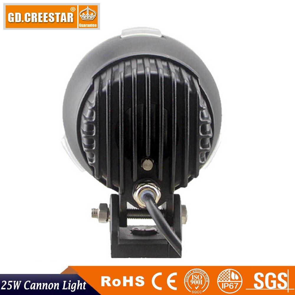 25 W Led Light Cannon Spotlight 12 V 24 V LED 4.5