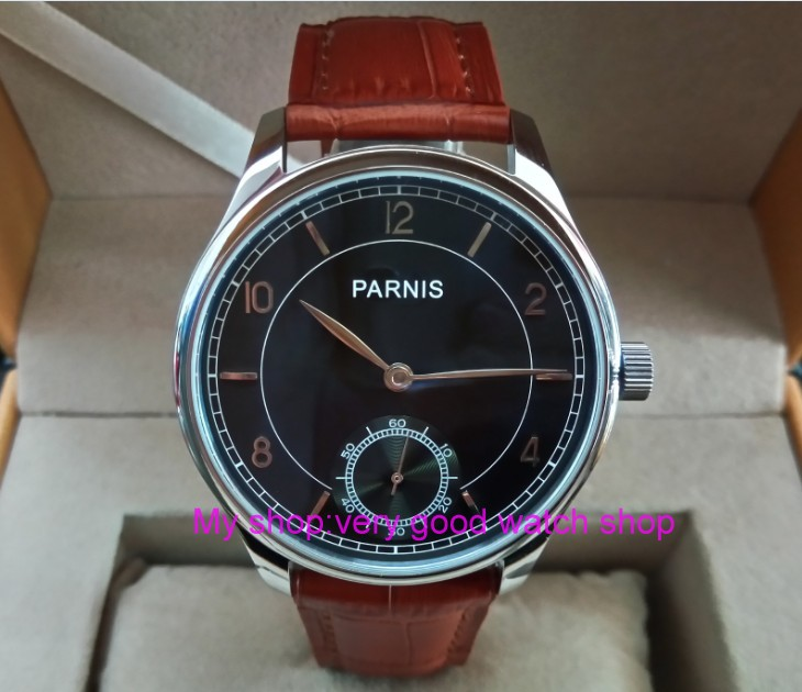 44mm PARNIS Asian ST3621/6498 Mechanical Hand Wind movement Mechanical watches Gray dial men's watches wholesale 177a 44 mm parnis white dial asian 6498 3621 mechanical hand wind men watches mechanical watches wholesale 389