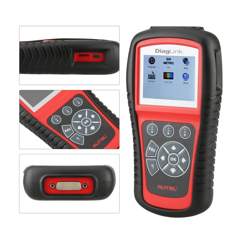 Image 2 - Autel DiagLink полная система OBD2 автомобильный сканер для диагностики инструмент OBD 2 считыватель кода EOBD двигатель ABS подушка безопасности Трансмиссия PK MD802 MD805-in Считыватели кодов и сканирующие инструменты from Автомобили и мотоциклы