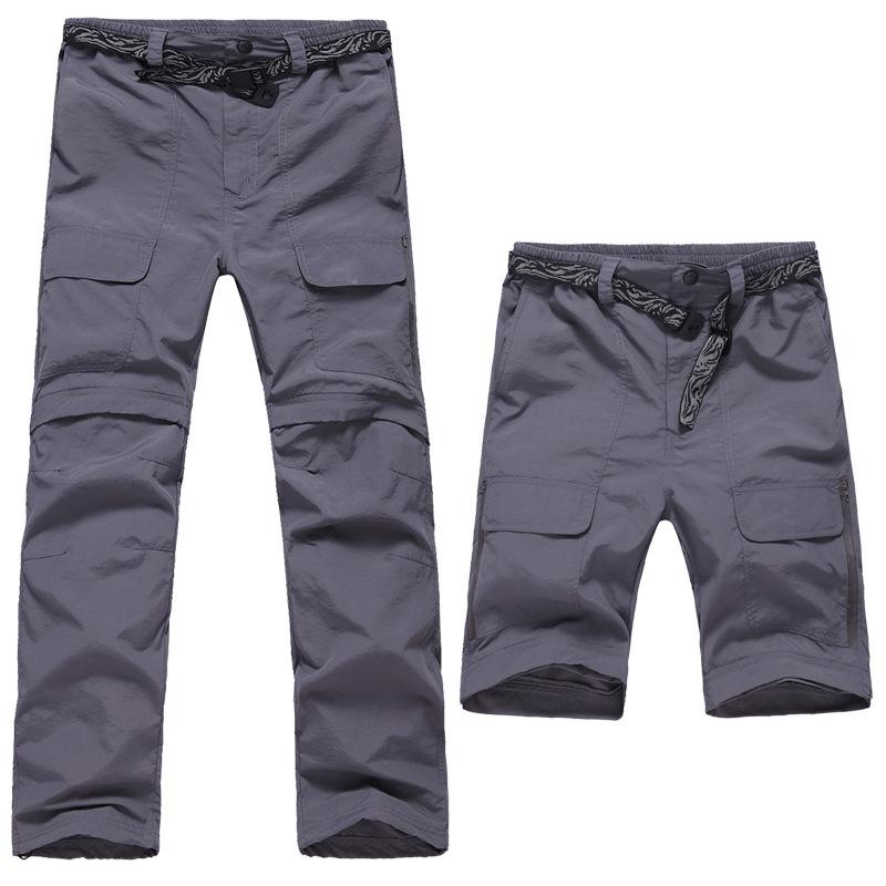 Outdoor Sports Quick Drying Pants Men Two Piece Fast Dry Removable Climbing Breathable Pants 3 Colors