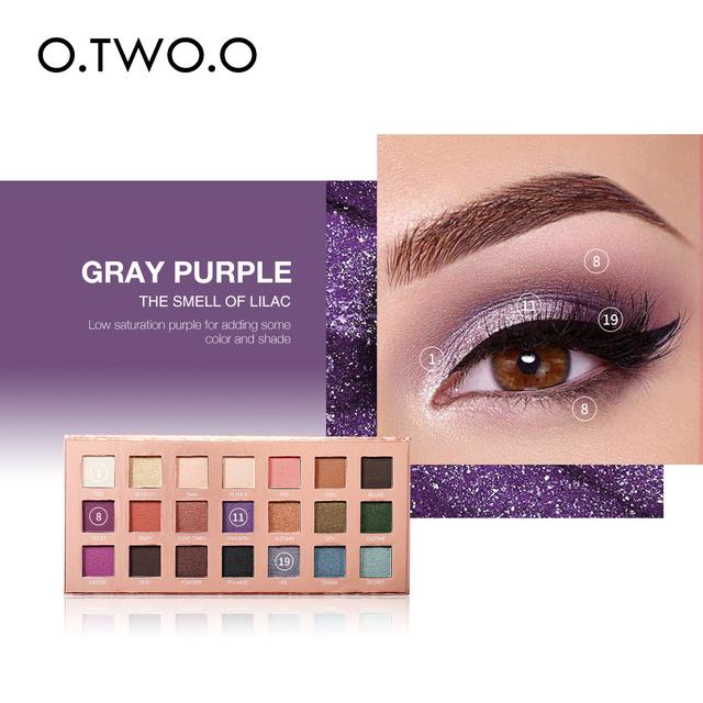 O.TWO.O sombra de ojos 21 colores Ultra fino brillo diamante de larga duración