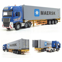 1:50 Container Toy Car Semi Trailer Transport Vehicle Metal Toy Car Can Split Turn Child KidsToy Gift