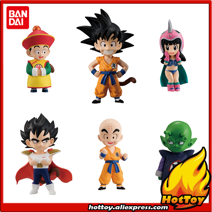 Original BANDAI ADVERGE EX 01 Collection Figure - Full Set 6 Pieces Goku Gohan Vegeta Piccolo Krillin ChiChi From