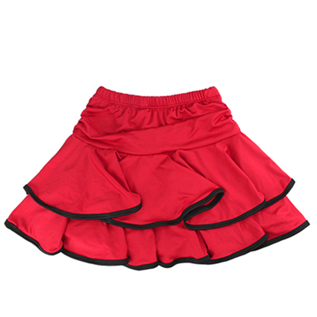 Girls Dance Skirt Latin Salsa Cha Cha Rumba Samba Modern Ballroom Skirts With Shorts 10 Colors 4