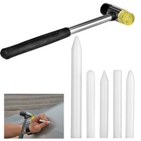 Tap Down Tools 6pcs Auto PDR Tool Paintless Dent Repair Tap Down Hammer