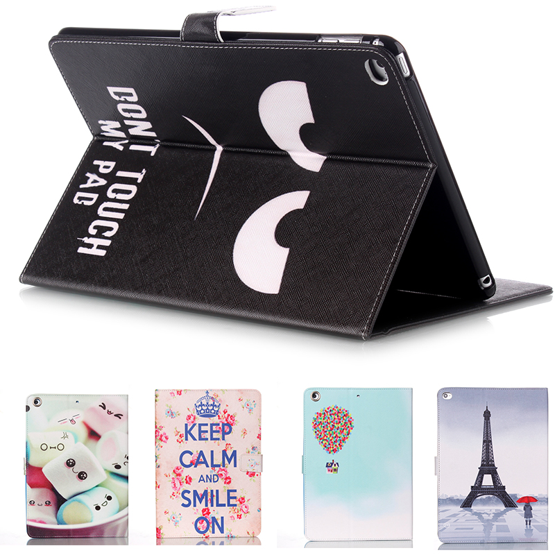 Black PU Leather Flip Case for Apple iPad air 2iPad  6 Case Stand Cover Case With Card Holder Official Original Ultra Thin Cover owl flip pu leather case for apple ipad air 2 ipad mini 4 ipad 2 3 4 5 6 case tablet smart stand cover with card holder