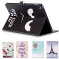 Black PU Leather Flip Case for Apple iPad air 2iPad  6 Case Stand Cover Case With Card Holder Official Original Ultra Thin Cover