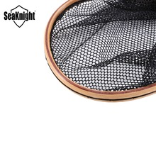SeaKnight MAXWAY Landing Net Small Size 37cm 126g Fly Fishing Net Straight Handle Landing Net Hand Net Fly Fishing Tools Tackles
