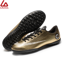 Men Women Soccer Shoes Indoor Breathable Sneakers Men Cheap Soccer Cleats Lace-Up Training Original TF Football chuteira futebol