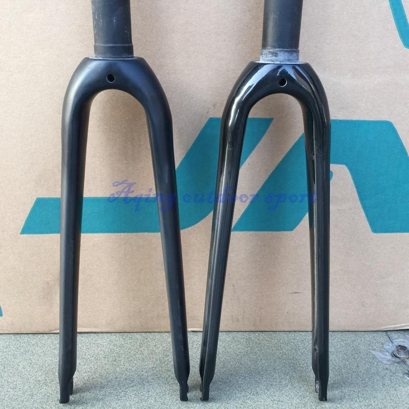 451 UD Carbon Fork 20 1 1/8 Rigid Forks For Minivelo Folding BMX Bike Caliper C Brake Matt / Glossy litepro u7 450mm folding bike 20inch bmx forks aluminum bike fork 100mm disc brake for sp8 kac083