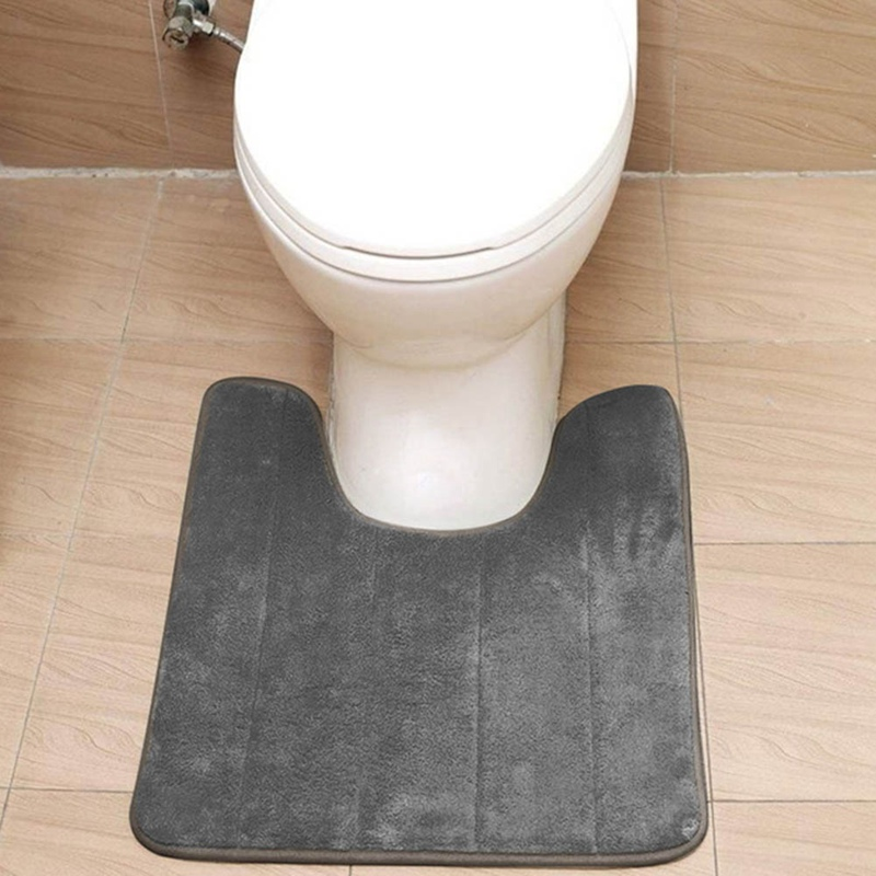 Soft Flannel Anti Slip Pedestal Mats Soft Washable Bath Toilet Mat 40*60cm