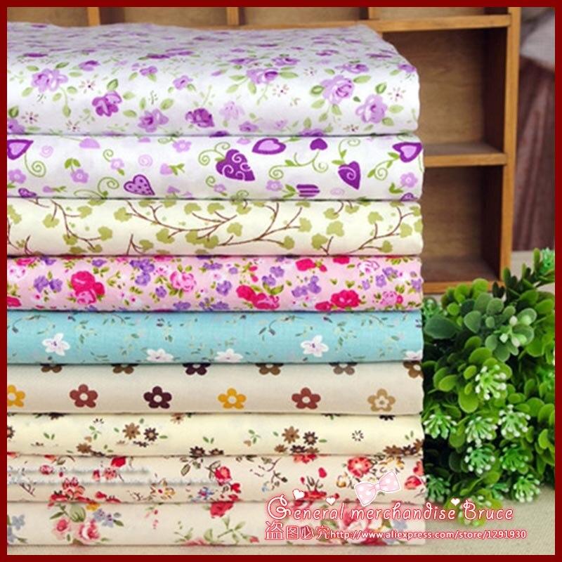 Rushed 9pcs 40 50cm flowers series baby patchwork baby cloth font b tartan b font ethnic