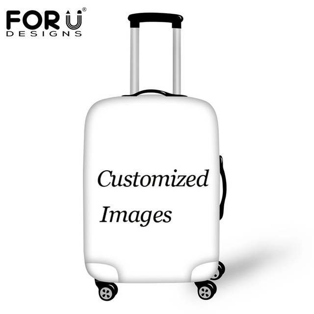 Travel Luggage Cover Soccer Football Black White Pattern Suitcase Protector