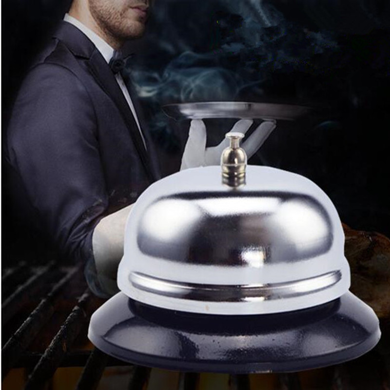 Stainless Steel Bar bell Kitchen Desk Hotel Counter Reception Restaurant Bar Ringer Call Jingle Bell Service Kit 30