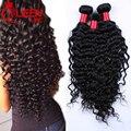100% необработанные малайзии девы волос глубокая волна высокое качество 3 пучки сделок реми человеческие волосы стиля малайзии волос глубокий вьющиеся