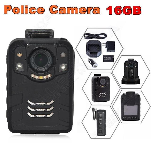 Free shipping!16GB Ambarella A7L50 Super HD 1296P 2K Police Worn Camera 170 Hours 60fps IR