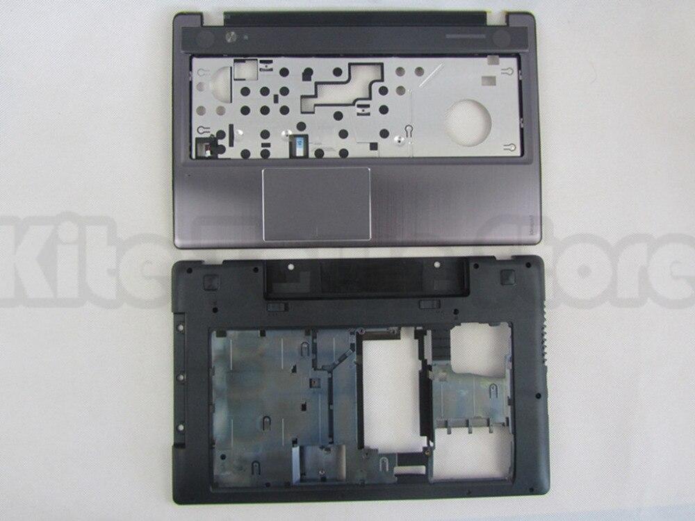 NEW For Lenovo Z580 Z585 Bottom Base Cover Case & Palmrest Upper Case Free Shipping