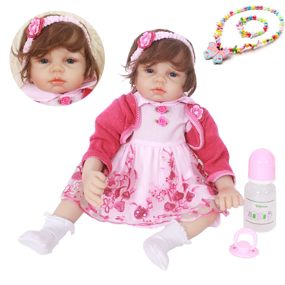 22inch Hot sale silicone baby girl doll Lifelike vinyl newborn princess Bonecas photo props handmade silicone reborn baby dolls22inch Hot sale silicone baby girl doll Lifelike vinyl newborn princess Bonecas photo props handmade silicone reborn baby dolls
