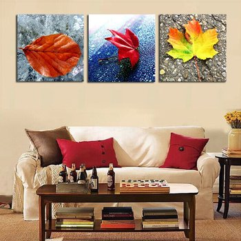Yellow and Red Leaves Modern Home Wall Decor Canvas Art Picture Print Painting On Canvas Artworks No Frame no frame canvas