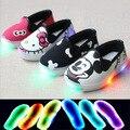 2016 precioso iluminado moda casual zapatillas de deporte del bebé nueva marca nuevos niños respirables zapatos lindos muchachos de las muchachas zapatos de bebé